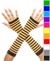 New Music Legs 422 Fingerless Striped Gloves