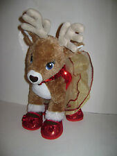 Build A Bear Team Santa Plush REINDEER Stuffed Animal VIXEN Blue Eyes w/Outfit