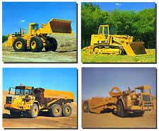 Caterpillar Dozer Construction Vehicles Four Set 8x10 Truck Wall Decor Picture