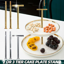 2/3 Tier Cake Cupcake Plate Stand Handle Fitting Hardware Rod Wedding Party Dec