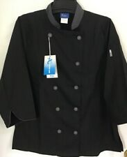Kng Brand Adult Size S Black Restaurant Active Chef Coat Jacket New