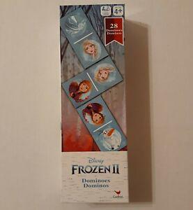 Disney Frozen II Dominoes 28 Cardboard Dominos Cards Age 4+ New