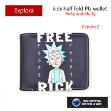 Boys Girls Kids Teenage Biofold PU Leather Wallet-Rick and Morty / Prison