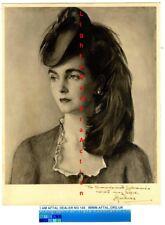 Barbara Hutton, Woolworths Heiress vintage signed Print AFTAL