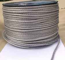 4mm X 20M Silver Dyneema® Fiber Synthetic Winch/ yacht rope tensile:1800kg - NEW