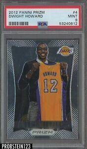 2012 Panini Prizm #4 Dwight Howard Los Angeles Lakers PSA 9 MINT
