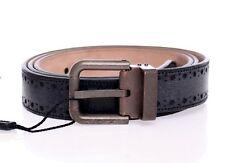 NUEVO CON ETIQUETA DOLCE & GABBANA Cuero Azul Logo Cinturón Cintura