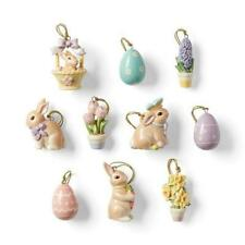 Lenox ~ Miniature Celebrate Easter 10 Piece Ornaments Set ~ No tree ~ Nib