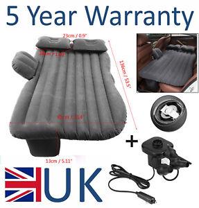 Car Inflatable Air Bed Mattress Back Rear Seat & 2 Pillows Travel Camping UK