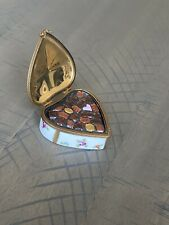 Limoges France Rochard With Love Heart Shaped Trinket Box Gold Ribbon-Chocolates