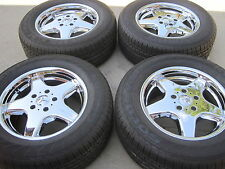 """18"""" NEW OEM FACTORY ORIGINAL MERCEDES G-WAGON AMG CHROMED WHEELS AND TIRES."""
