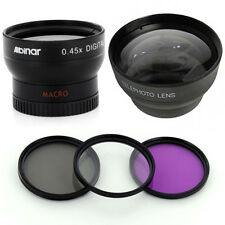 37mm Wide Tele Lens Kit, CPL-UV-FLD Kit for Olympus PEN E-PL1 E-PL2 E-PL3 E-PM2