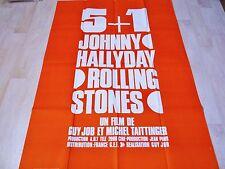 johnny hallyday rolling stones 5+1 ! affiche promo rare  :m