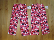 Twin girls Multicolored pink dots pajama pants NWT 4 5