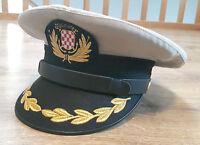 Kroatische HOS Offizier Schirmmütze mit Abzeichen Hrvatska Kroatien Croatia NDH