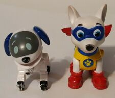 Paw Patrol Robo-Dog and Apollo the Super Pup Figure Lot of 2
