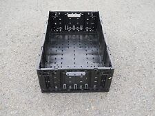 """Plastic Stacking Crates Lugs Bins Baskets Folding Collapsible #1, 8"""""""