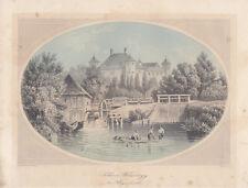 Schloss Welzenegg Klagenfurt Kärtnen Wörthersee kolor Orig Stahlstich 1850