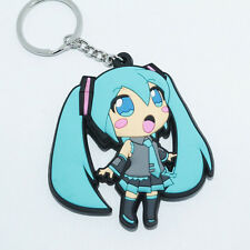 New Anime Vocaloid 初音ミク Hatsune Miku Rubber Silicone Keyring Keychain #R8