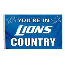 Detroit Lions 3x5 Country Design Flag [New] Nfl Banner Sign Fan Wall House