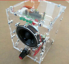 1pcs LM386 Amplifier Kit Transparent Speaker Box With Case PC Speaker KIT