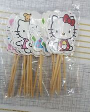 ♛ Shop8 : HELLO KITTY Cupcake Topper Toothpick Flags Cake Decor 24 pcs