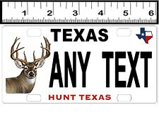 CUSTOM PERSONALIZED ALUMINUM MINI BICYCLE STATE LICENSE PLATE-TEXAS HUNT