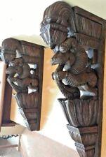 Wall Bracket Corbel Pair Hindu Temple Yalli Architectural Dragon Sculpture Art