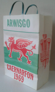 Welsh Language Prince Of Wales 1969 Investiture Paper Carrier Bag, WALES FOREVER