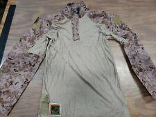USMC Defender M Frog Combat Ensemble DESERT MARPAT Shirt Size MR NWT