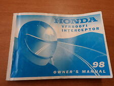 OEM Honda 1998 VFR800FI Interceptor Owner's Manual 31MBG600
