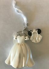 NWT Disney Parks Christmas Minnie Mouse Bride Wedding Dress Costume Ornament
