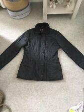 Ladies black barbour jacket in size 10