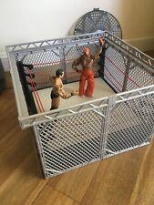 WWE Steel Effect Cage  & Wrestling Ring2 Figures  Rey Mysterio / Randy Orton