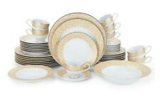 Mikasa Parchment Gold 42-Piece Dinnerware Set for 8 New Mikasa