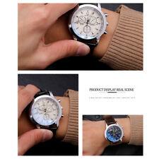 Casual Dial Men Leather Business Wrist Watch Quartz Analog Electronic Wristwatch