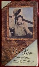 BOB HOPE REMEMBERS...WORLD WAR II I WAS THERE (VHS, CD 1994)