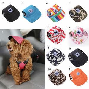 Pet Dog Baseball Hat Summer Canvas Cap Pet Small Puppy Outdoor Supplies S-XL AU