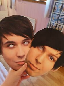 Dan and Phil paper face masks