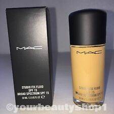 New Mac Foundation Studio Fix Fluid Foundation  SPF 15 NC44 100% Authentic