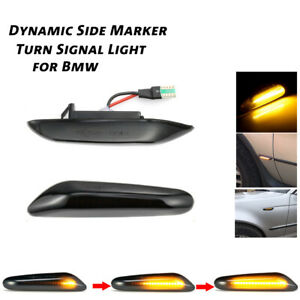 2pcs Led Dynamic Side Marker Turn Signal Light For bmw Accessories E90 E46 X3 X1