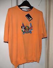 BURBERRYS SHORT SLEEVE ORANGE BB DETAILED FLAG TOP SIZE 40 RRP £249.99