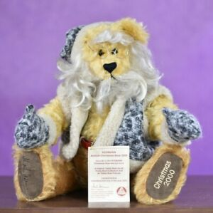 Hermann Annual Christmas Bear 2000 Growler Limited Edition Signed & Tagged