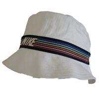 Nike Bucket Hat, White, Rainbow Stripe-Unisex - Mens/Women -Sizes S/M, M/L, L/XL