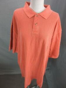 NWT John Ashford Size 2XLT Mens Orange 100% Cotton Short Sleeve Polo Shirt T384
