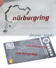Pair (2 pcs) Polished Chrome Nurburgring Motor Sport Car Emblem Sticker Decal