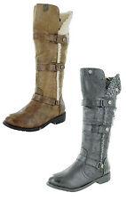 Kniehohe Stiefel Damenschuhe mit Blockabsatz für Business-Anlässe