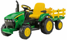 NUOVO TRATTORE PEG PEREGO JOHN DEERE GROUND FORCE BATTERIA RICARICABILE 12V 8Ah