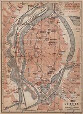 LÜBECK antique town city stadtplan. Schleswig-Holstein karte. BAEDEKER 1900 map