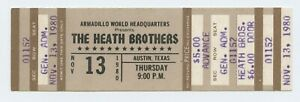 The Heath Brothers Ticket 1980 Nov 13 Austin TX Unused